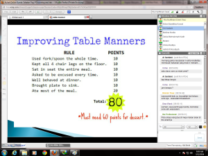 Improving Table Manner